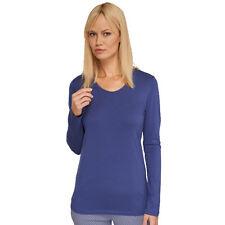 SCHIESSER Damen Mix & Relax Shirt Langarm V-Shirt 34-50 XS-5XL Schlafshirt