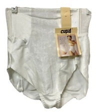 Vintage Cupid High Waisted Panty Brief Tummy Control Shaper White Lace Sz L 30
