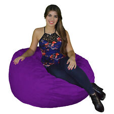 Bean Bag Chair 3' Foot Cozy Bean Bag Sack Small Pick your Color