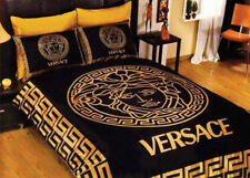 New Versace bedding set Duver cover Satin Gold and Black Luxurry Box
