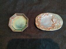 lot 2 céramique perrusson ecuisses art nouveau coupe coupelle décoration