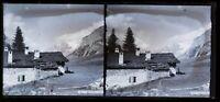 Suisse Cottage Montagne c1920 Foto Negativo Placca Da Lente Vintage VR16L1n11