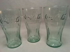 Set Of 3 Vintage Coca-Cola Glass Drinking Cups