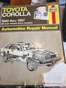 Toyota Corolla 1980 Through 19 87 Haynes Repair Manual
