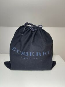 Burberry Drawstring Dust Bag Cotton Dark Blue 29cm X 28cm