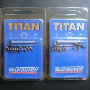 GRAUVELL TITAN Nº 6 ( 32 KG / 70 LBS ) ROLLING BARREL SWIVELS / EMERILLON