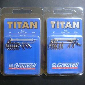 GRAUVELL TITAN Nº 6 ( 32 KG / 70 LBS ) ROLLING BARREL SWIVELS / EMERILLON