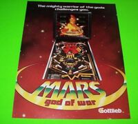 MARS GOD OF WAR Pinball Machine Flyer 1981 Gottlieb Original NOS Space Age Art