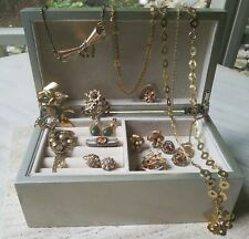 Vintage Jewelry lot of 15! Coro, B&N, Gold Filled and New Jewelry Box!