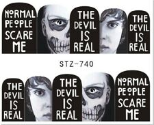 Nail Art Stickers Decals Transfers Halloween Normal People Scare Me (STZ740)