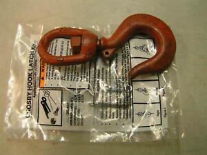CROSBY, 1 Ton  Swivel Hook w/Latch, NEW