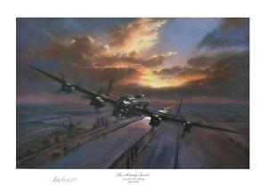 Avro Lancaster bomber print signed in person by VC HERO BILL REID! 617 sqn pilot