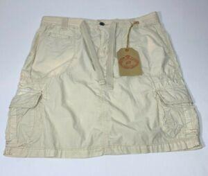 NWT! Lauren by Ralph Lauren Tan Khaki Cotton Cargo Skirt Size 8 NEW!