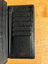 Authentic Louis Vuitton Epi Port Cult Credit Leather Long Wallet - Black