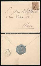MONACO SILVER SEAL su 1901 BUSTE per la Francia