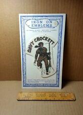 Vintage Acme Emblem Corp Davy Crockett Iron On Emblem (H-3)