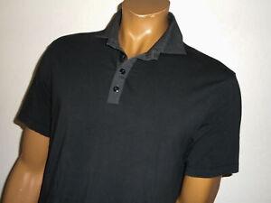LULULEMON Athletic POLO Shirt POST PRACTICE Black/Gray Pop Collar Mens : LG