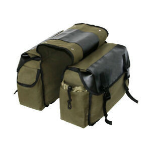 Motorbike Motorcycle Leather Luggage Saddle Bags Panniers Touring Bag