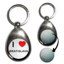 I Love Bratislava - Chrome Golf Ball Marker Key Ring New
