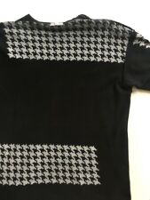 2001 Comme des Garcons Homme Heavy Cotton Crew Neck Tee with Screened Houndstoot