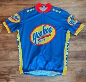 Vintage Pearl Izumi Yoo-Hoo YooHoo Yoo Hoo Chocolate Milk Cycling Jersey Sz XXL