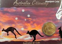 2009 AUSTRALIAN CITIZENSHIP Coin on Card