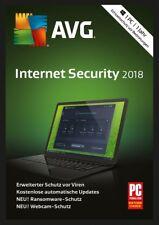 AVG Internet Security 2018 * 1 PC * 1 Jahr * Vollversion * auch 2017 * Lizenz