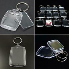 10Stk Schlüsselanhänger Keychain leer klar Transparent Acryl  Bilderrahmen