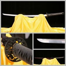 High Quality T10 High Carbon Steel Japan Samurai Sword Red Ox Horn Sheath Sharp