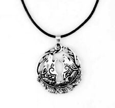 Celtic Wolf Pendant Wolves necklace Ladies Mens Viking Norse Silver Chain