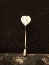 Vintage Abalone Heart Stick Pin