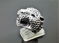 Leopard Ring STERLING SILVER 925 Big Cat Jaguar Panther Totem Talisman Cat Anima
