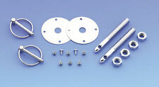 Trans Am Camaro Universal Hood Pin Kit 7/16 w/ TORSION CLIPS w/ SCREW IN PLATES
