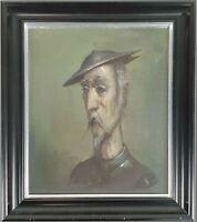 DON QUICHOTTE DE LA MANCHA. HUILE SUR LA TABLE. UNSIGNED XX SIECLE.