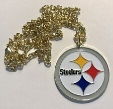 """Pittsburgh Steelers Big Logo Pendant Necklace NFL Licensed Jewelry 1 3/8"""" Charm"""