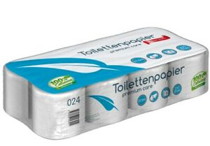 Toilettenpapier premium Care Supersoft 3-lagig 250 Blatt 8, 64 oder 2112 Rollen