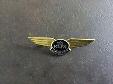 VINTAGE INSIGNE ,BADGE KLM JUNIOR PILOT COMPLET 6,5 CM