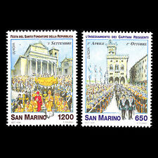 San Marino 1998 - National Holidays Architecture Art - Sc 1415/6 MNH