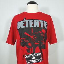 DETENTE Recognize No Authority Red T-Shirt Men's size L (NEW)