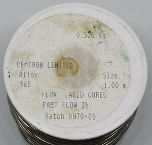 Supreme Quality LF Solder Wire 96S 4% Silver 1mm Thickness **ACID CORED**