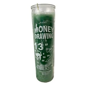 Money Drawing Lucky Success Green 7 Day Candle Ritual Spell, Pagan Magic