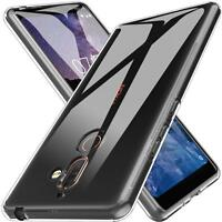 Nokia 7 Plus Thin Silicone Clear Case Cover Ultra Slim Shockproof Gel Back