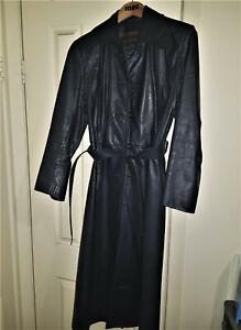 Arthur Galan women wool trench coat with genuine leather sleeve contrast sleeve