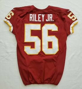 #56 Perry Riley Jr. of Washington Redskins NFL Game Issued Player Worn Jersey