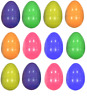 12 Plastic Filler Easter Eggs Fillable Egg Hunt Decoration Hollow Add Treats Q38