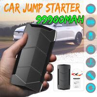 99900mAh Portable 12V Car Jump Starter Battery Power Bank USB Charger Emergency