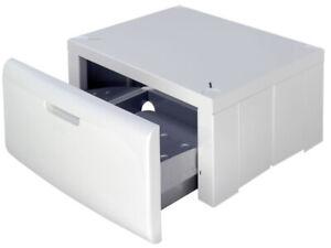 Bauknecht Universal Waschmaschinensockel Podest mit Schublade 60cm Erhöhung weiß