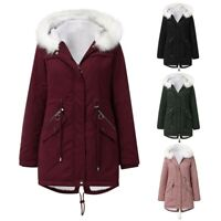 Fashion Womens Warm Coat Hooded Jacket Ladies  Slim Winter Parka Outwear Coats