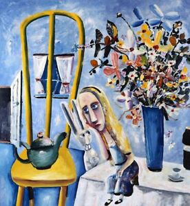 Charles BLACKMAN 'Alice on the Table' Limited Edition Print signed by the artist