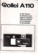 Rollei a110 en la práctica manual de instrucciones nº b.202